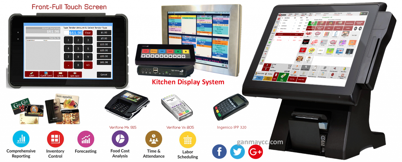 POS System All in One Solution for Restaurant & Retail